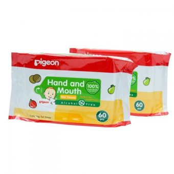 Hand and Mouth Pigeon Baby Wipes Pack of 2 for Babies & Kids 60pcs/pack Price Philippines