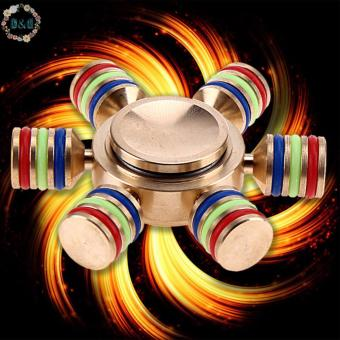 Harga D&D Gold Hexagonal Detachable Finger Spinner Toy Fun Hand Game Spinning Top DIY Fidget Desk Focus Toy