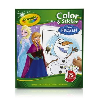 Harga Crayola Frozen Color & Sticker Books
