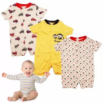 Tickle R4 Assorted Color/Design Babies 3 Pack Romper Price Philippines