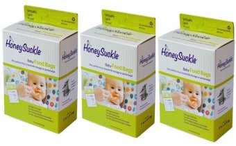Harga Honeysuckle Small Breastmilk Bags/Baby Food Bags, Pack of 75