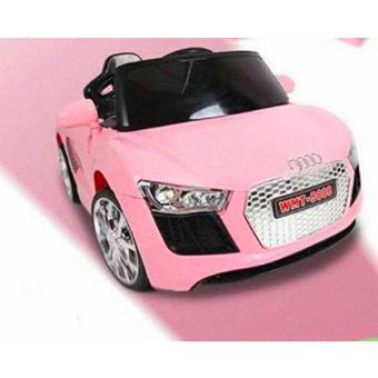 Harga NEWEST AUDI SPORT EDITION 6V RIDE CAR FOR KIDS, BOYS AND GIRLS WITH MUSIC, LIGHTS (pink)