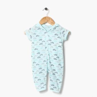 Harga Hush Hush Boys Cars Allover Hooded Bodysuit (Blue)