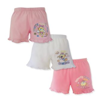 Cotton Stuff - 3-piece Shorts with Ruffles (Angel Babies - Giggles) 6-9 Months Price Philippines