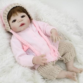 55cm Silicone Reborn Baby Dolls Kids Toys For Girls Collection Soft Vinyl Alive Baby Doll For Playmate - intl Price Philippines