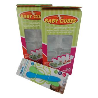 Harga Baby Cubes Food Storage, 70ml & Weaning Spoon Set