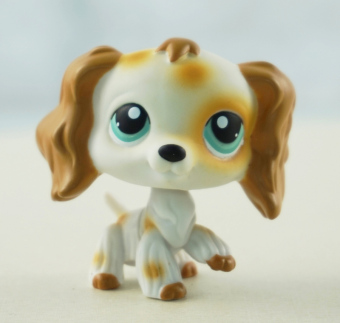 Harga Brown White Cocker Spaniel Dog Animals Littlest Pet Shop LPS 344 Kids Toys Green Eyes - Intl
