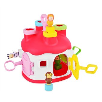 Harga Smoby Cotoons Shape Sorter House (Pink)