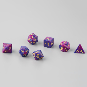 OH 7pcs D4 D6 D8 D10 D12 D20 Multi Sided Game Role Playing Dual Color Dices Price Philippines