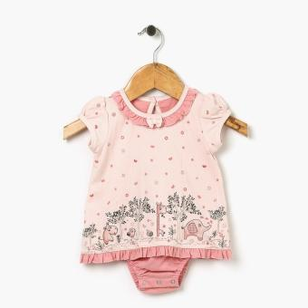 Harga Hush Hush Girls Big Animals Onesie (Peach)