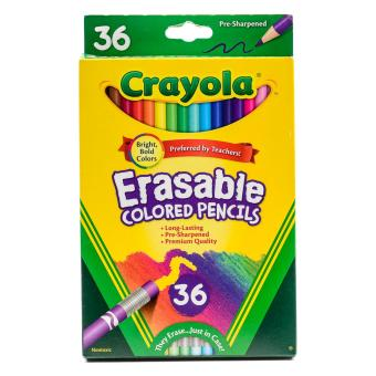 Harga Crayola 36ct Erasable Colored Pencils