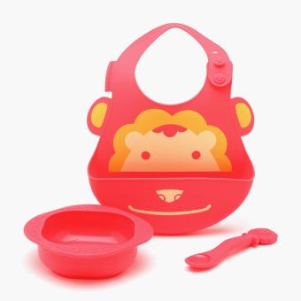 Marcus & Marcus Lion Silicone Feeding Set Price Philippines