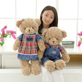 55cm Soft Stuffed Teddy Bear Plush Dolls Couple Doll Bears Birthday Gift,Man - intl Price Philippines