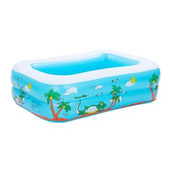 ruixiang Babies Inflatable Swim Pool PVC Paddling Pools for Kids, Blue Square Price Philippines