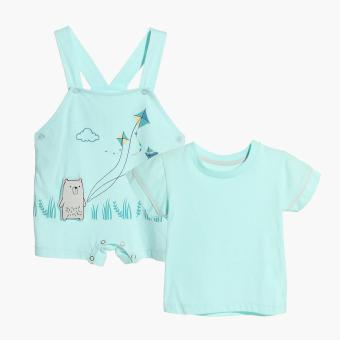 Harga Hush Hush Boys Bear Flying Kite Jumper (Turquoise)