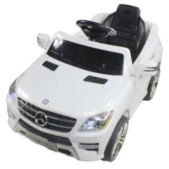 Harga Mercedez Benz Kids Electric Ride On Toy Car 4 wheels ML350 QX-7996 (White)(