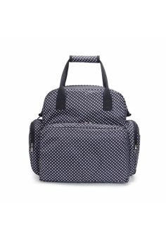 Polka Dot Multifunction Portable Waterproof Baby Infant Mommy Diaper Changing Nappy Bag Storage Organizer with Mat(Black) Price Philippines