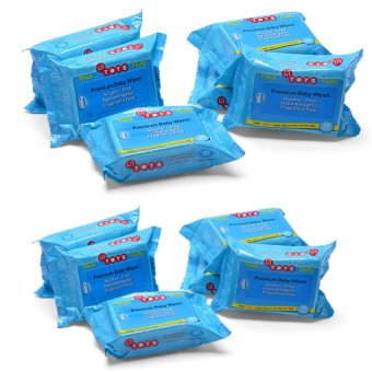 Harga Lil Tot's Baby Wipes 30's, Pack of 12 (Blue)