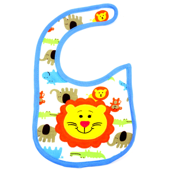 Harga BABY STEPS Safari Lion Baby Feeding Bib (Blue)