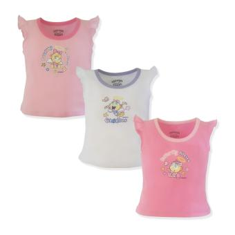 Cotton Stuff - 3-piece S/L Blouse with Ruffles (Angel Babies - Giggles) 6-9 Months Price Philippines