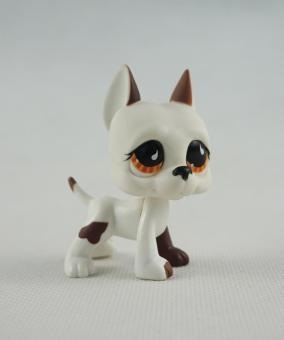 Harga 2 Inch Littlest Pet Shop LPS 750 White Brown Great Dane Dog Puppy Brown Eyes Girl Toys - intl