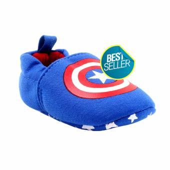 Harga BABY STEPS Capt A Hero Baby Boy Cotton Shoes (Blue)