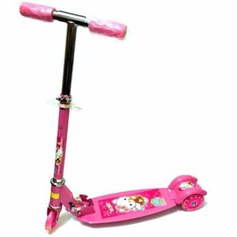 Harga Quality Ride-On Push Scooter for Kids with Laser Wheel (Pink)