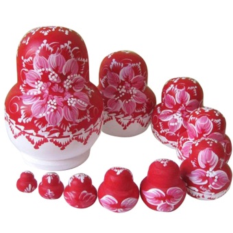 10PCS Wooden Russian Nesting Dolls Braid Girl Traditional Matryoshka Dolls Price Philippines