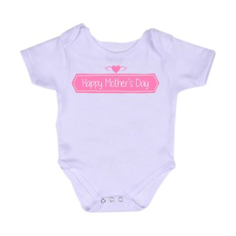 Harga Stache Happy Mother?s Day Romper (White)
