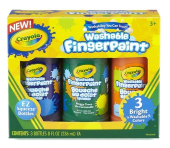 Harga CRAYOLA 3ct Washable Bold Fingerpaints Secondary Color 8oz