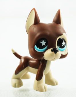 Harga 2.3'' Dane Dog Chocolate Star Eyes Girl toys Kids Toys Animals Littlest Pet Shop LPS 817 - Intl