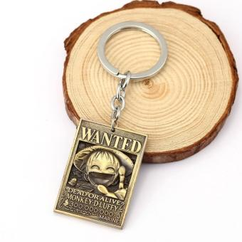 One Piece Keychain - Strawhat Luffy wanted poster Price Philippines