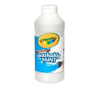 Harga Crayola Washable Paint 473.1ml (White)