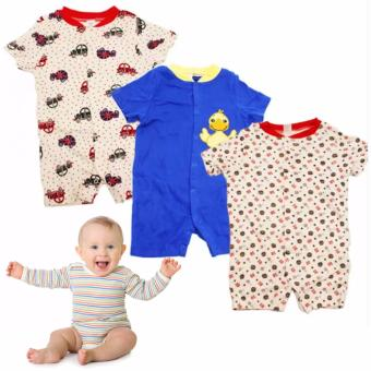 Tickle R5 Assorted Color/Design Babies 3 Pack Romper Price Philippines