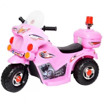 Harga C&C TC-005 Rechargeable Motor Bike Kids Ride-on Toys Police Motorcycle (Pink)