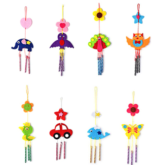 Harga Kids Child DIY Wind Chimes Aeolian Bells Educational Puzzle Toys Craft Kits