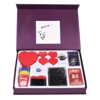 Harga Children's Magic Props Kit Set Beginner Magician Toy Box for Stage Performance