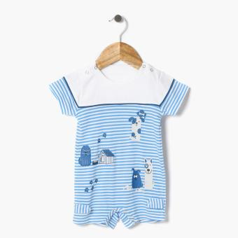 Harga Hush Hush Boys Doggie Friends Romper (Blue)