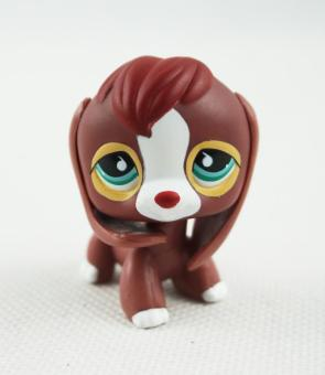 Harga Littlest Pet Shop LPS #849 Brown Red Beagle Dog Puppy Green and Blue Eyes Toys - intl