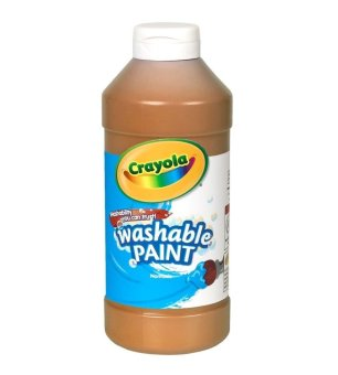 Harga Crayola Washable Paint 473.1ml (Brown)