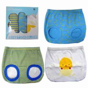 Harga Cotton Club Baby Diaper Cover for Boy w/ chick design-Size-Large