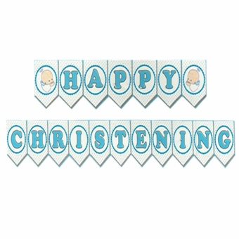 Harga Happy Christening Party Banners (Blue)