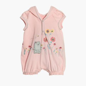 Harga Hush Hush Girls Bear's Flowers Hooded Romper (Pink)