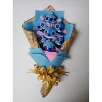 Harga Stitch Baby Stuffed Toy Bouquet blue&pink