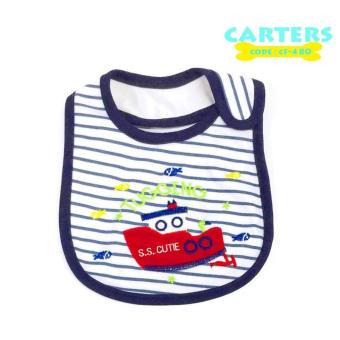 New 2017 BEST STORE BABY SHOP Carter's Bow Suit Baby Feeding Bib 480 (White) Price Philippines