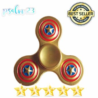 Captain America 3 Point Fidget Spinner (GOLD) Price Philippines