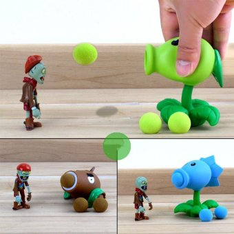 Harga 2017 PVZ Plants vs Zombies Peashooter PVC Action Figure Model Toy Gifts Toys For Children High Quality Brinquedos, In OPP Bag - intl