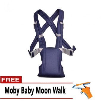 Harga Baby Carrier (Blue) with FREE Moby Baby Moon Walk
