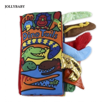JOLLYBABY 10 Pages Cartoon Print Cloth Book Activity Book for Babies - intl Price Philippines
