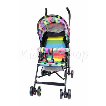 906 Hong Kong Fashion Foldable Stroller (rainbow stripe) Price Philippines